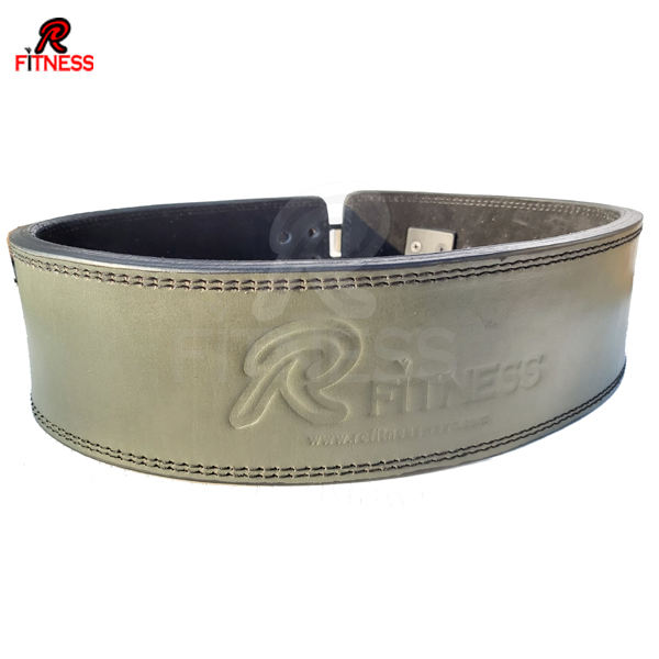 Leather Dress Belt Metallic Gold with Nickel Plated Channel Buckle BSC
