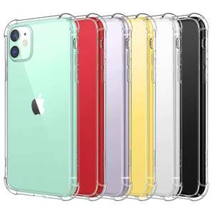 Capa para celular hocayu amazon macia clara tpu para apple iphone 11 capa transparente capa funda movil