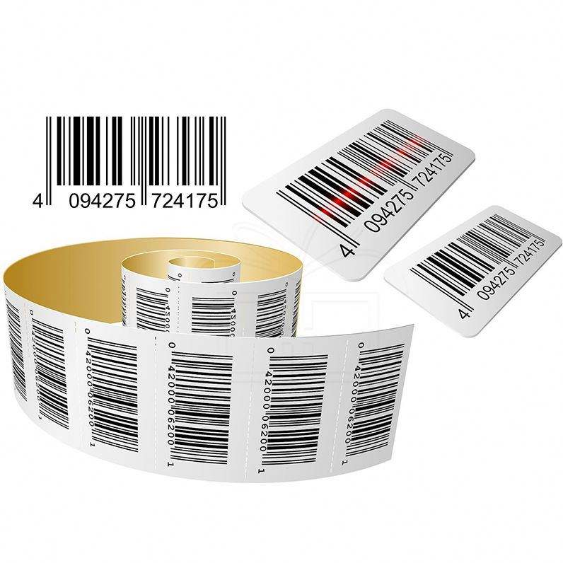 Transparent Barcode Sticker Thermal Paper Label For Jewelry Custom Size Rolls Serial Number Manufacturers Roll