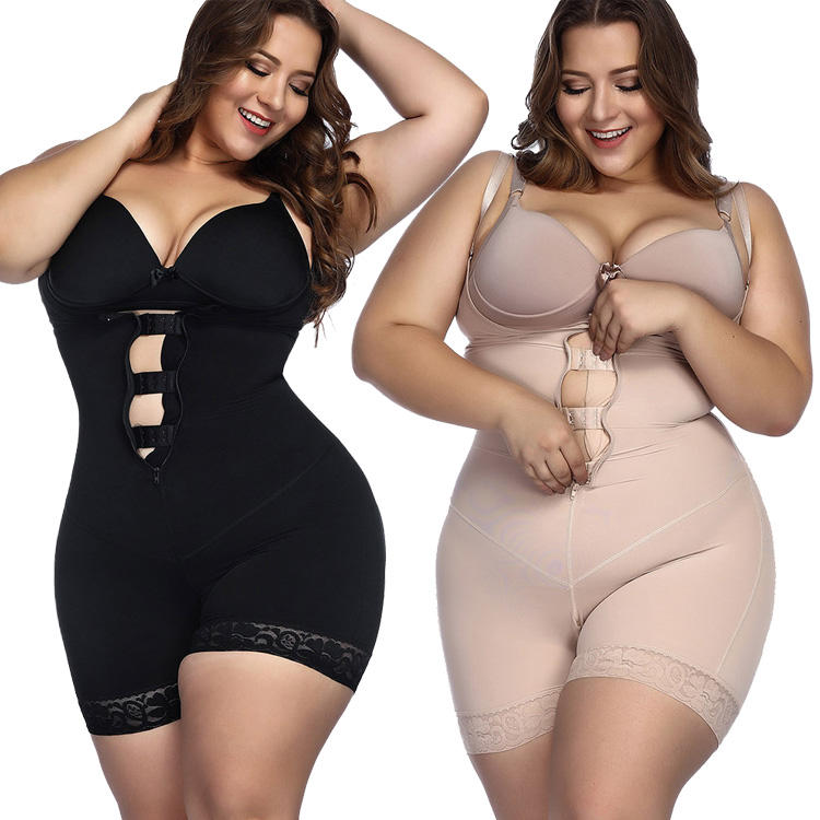 Women Full Body Shaper Slip Suit Power Shapewear Waist Trainer Girdle Slim Corset Tummy Control Bodysuit Post Surgery