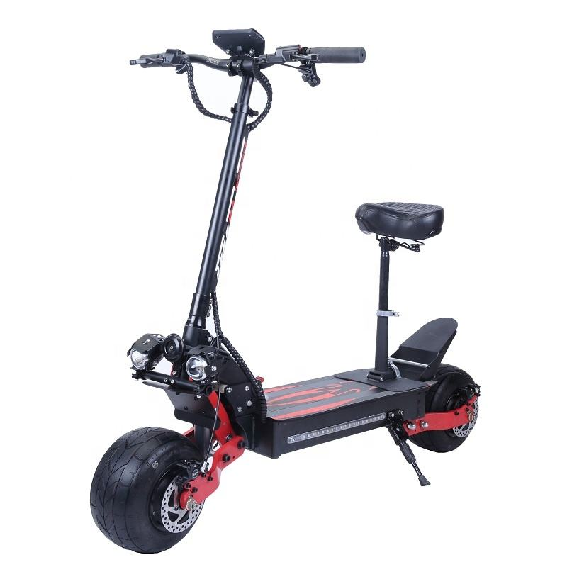 2020 NEW ARRIVAL SENIOR elektrische step 60v 2000w 20ah DUAL MOTOR lithium battery Electric scooter with seat for adult