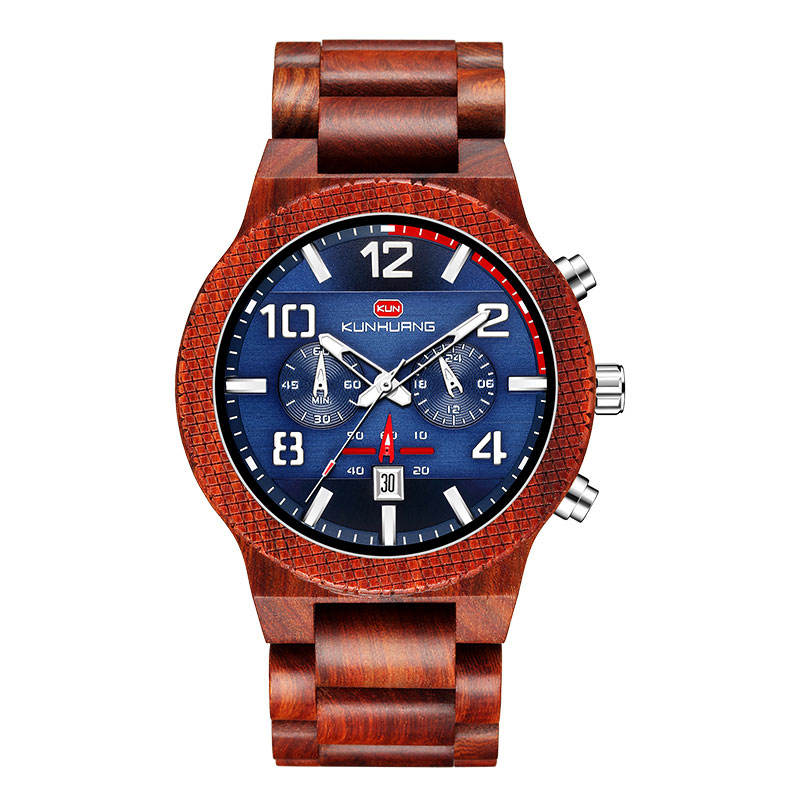 2020 OEM original factory chronograph watches men wrist custom wood watch