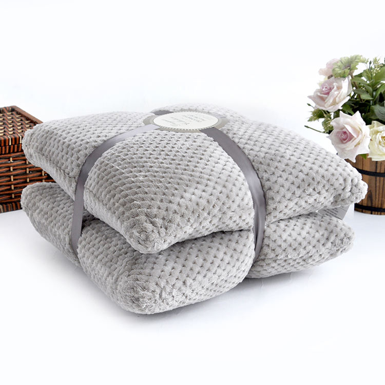 Solid custom flannel fleece home decorative seat cover cushion