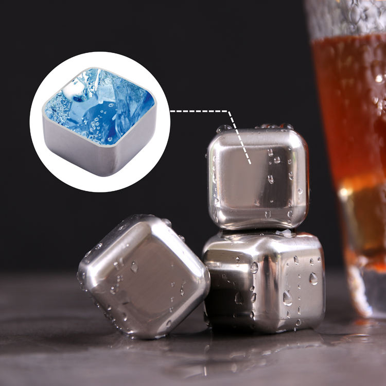 BPA Free Metal Reusable Stainless Steel Round Whiskey Stone Artificial Ice Cube