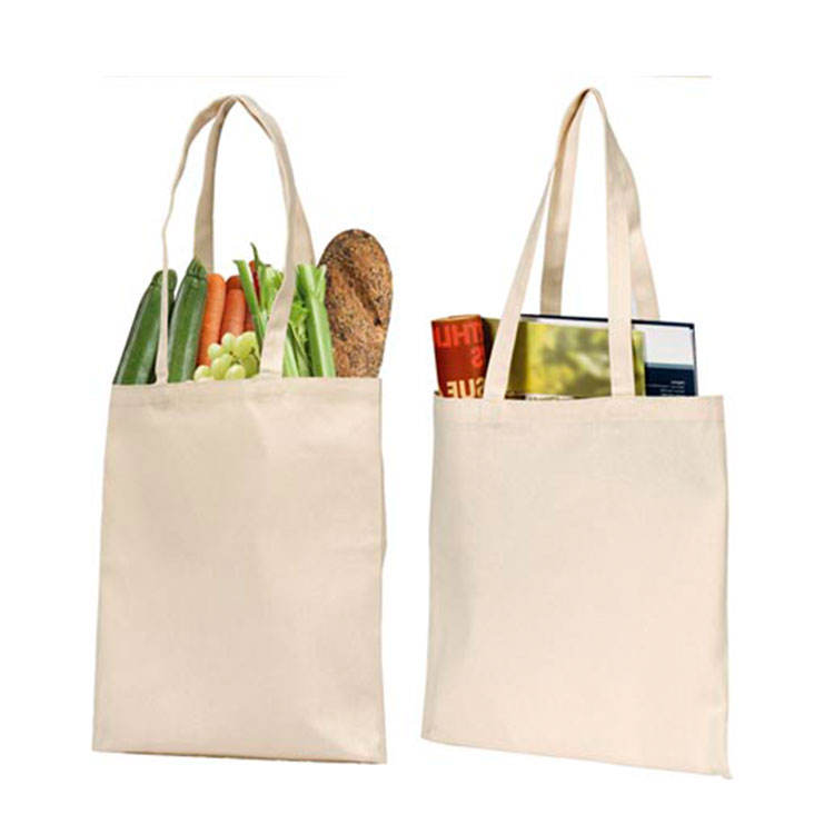 Promotion [ Folding Canvas Bag ] Foldable Cotton Bag Promotional Reusable Personalized Folding 100% Cotton Canvas Tote Foldable Shopping Bag