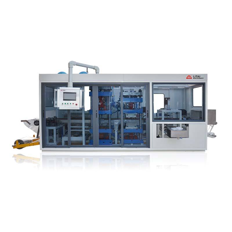 Big Forming Size Servo Motor Control Type Plastic Tray Thermoforming Machine