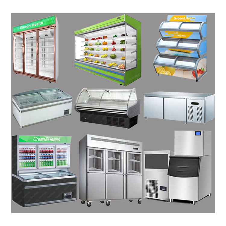 Hot selling Commercial Beverage Used Vegetable Fruit Dairy Equipment Glasses Door Refrigerator