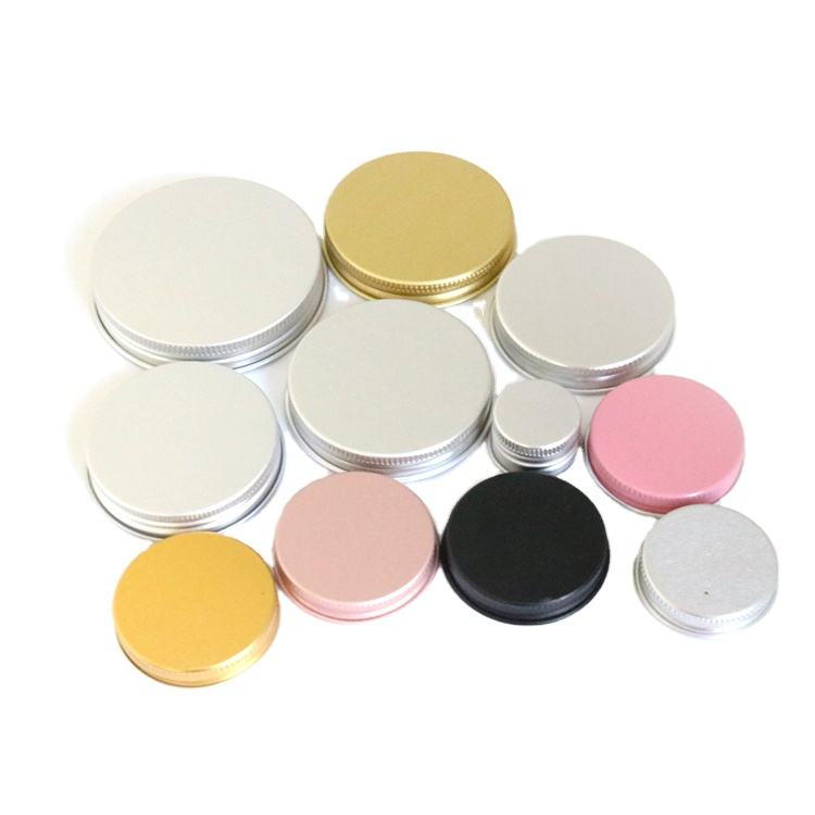 Custom Canning Jar Lids Wholesale Aluminum Mason Jar Lid Universal Metal Aluminum Water Bottle Screw Cover Cap