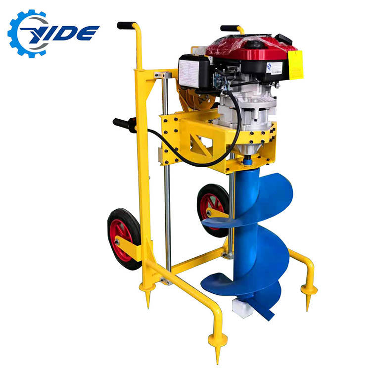 Augers earth drilling machine manual portable ground hole earth auger