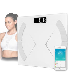 Hot sales CE Rohs approved bluetooth body composition monitor bathroom digital body weight scale