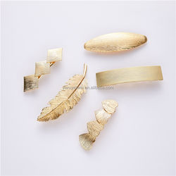 Popular style square oval leaf shape, triangle for drawing effect spring clip French hairpin.