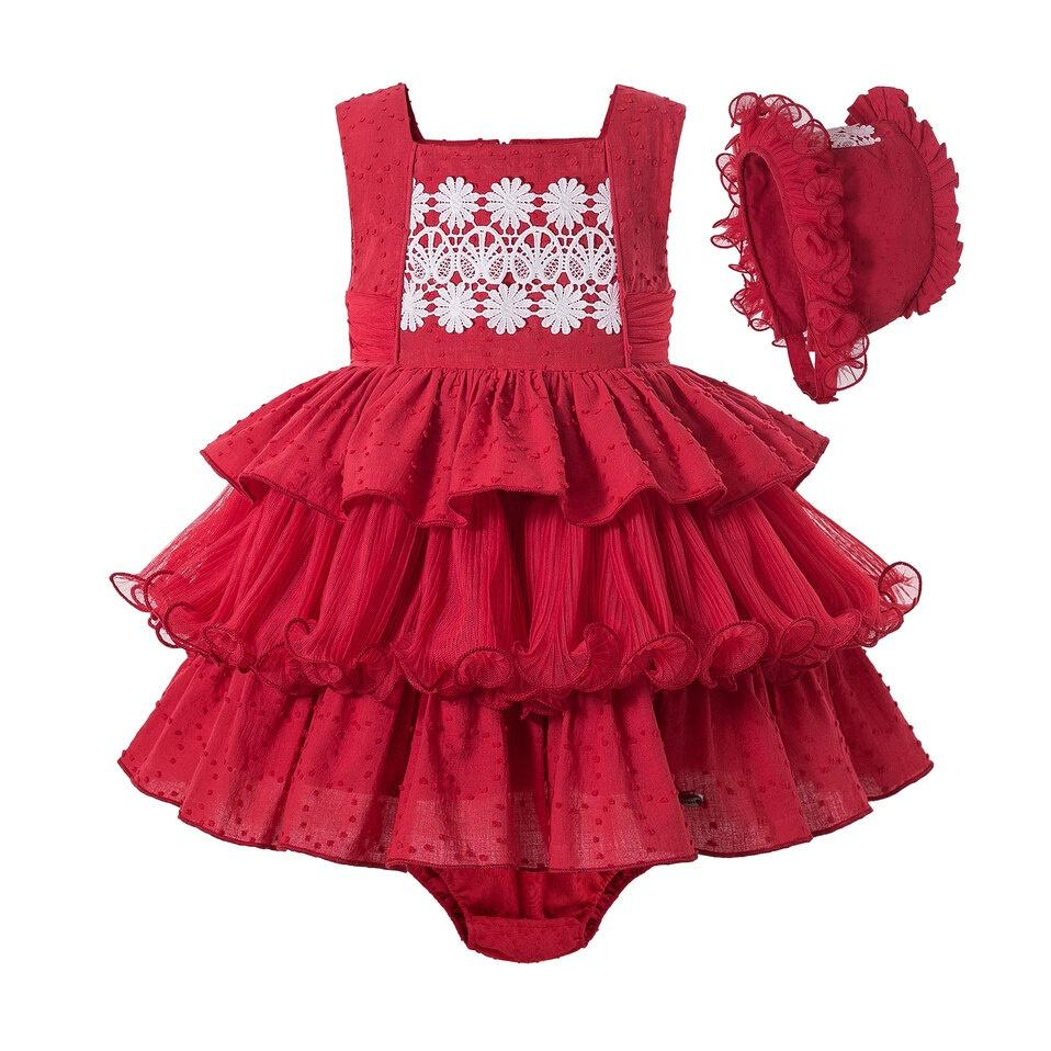 Sweet [ Girls Girl Clothes Wear ] Designer Clothes PETTIGIRL Little Girls Set Red 2020 New Girl Sleeveless Clothes Sweet Outfits For Girls With Head Wear