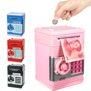 Oempromo Electronic Piggy Bank Safe Money Box Children Digital Coins Cash Saving Safe Deposit ATM Machine Money box