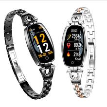 2019 Best Sell  H8 ladies  Digital with real time blood pressure weather report sleep monitor women smart Watch