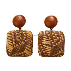 WOODEN HANDICRAFTS ECO TRADITIONAL DESIGN WOODEN SIMPLE STYLE ROUND SHAPE EAR RING WITH HIGH QUALITY