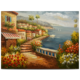 Classic pure hand painting beautiful seaside scenery for wall decor