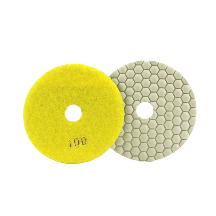 Fullux 5 inch 125mm Different size stone flexible abrasive disc diamond polishing pad for dry wet use polishing pad