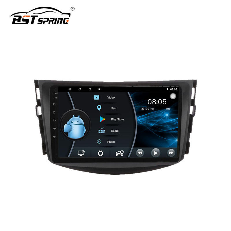 Bosstar high quality 10.1 inch android car dvd player touch screen audio multimedia system for Toyota RAV 4 2009 2010 2011 2012
