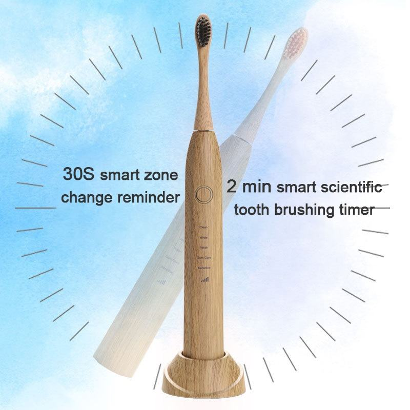 2021 New Products Natural Eco-Friendly Cepilos Biodegradable Electrical Sonic Bamboo Charcoal Toothbrush For Children And Adult