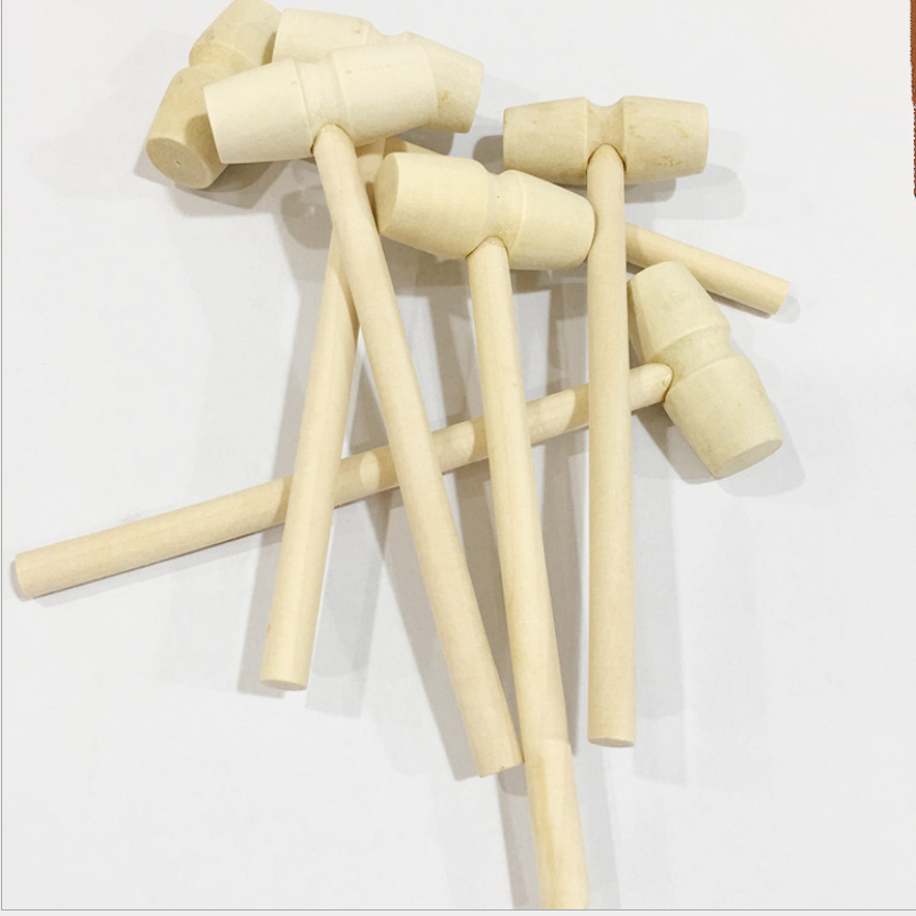 wholesale mini natural wood hammer wooden mallet for chocolate