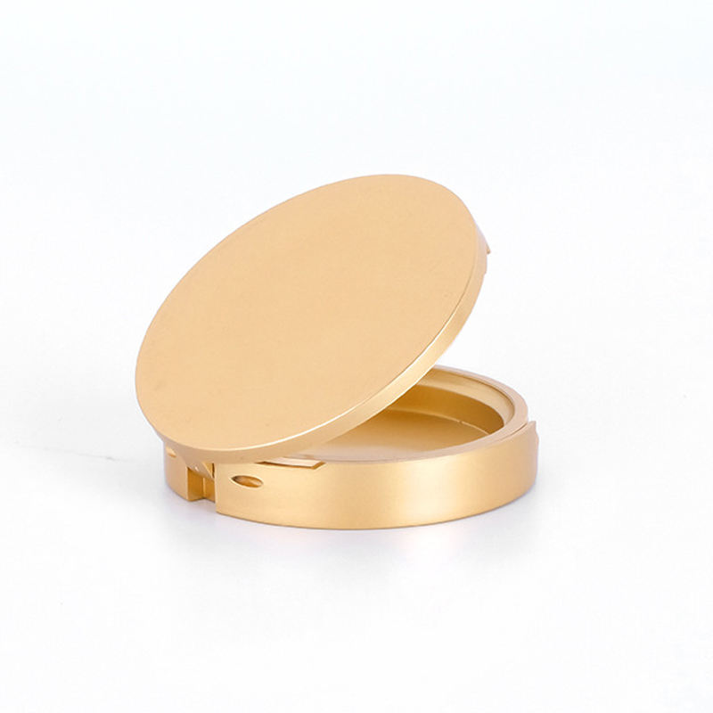 59mm pan Fashion Round luxury gold empty Face Powder Compact Powder cosmetic case Make Up With Mirror Empty compact