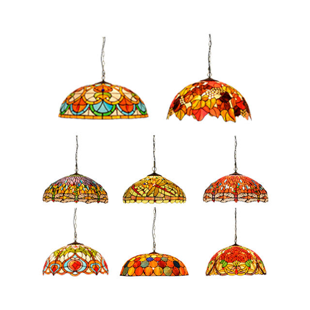 And Lamps Pendant Lighting Tfc-5441 Retro Handcrafted Art Stained Glass Wide Chandelier Lamp Lights Antique Tiffany Chandeliers