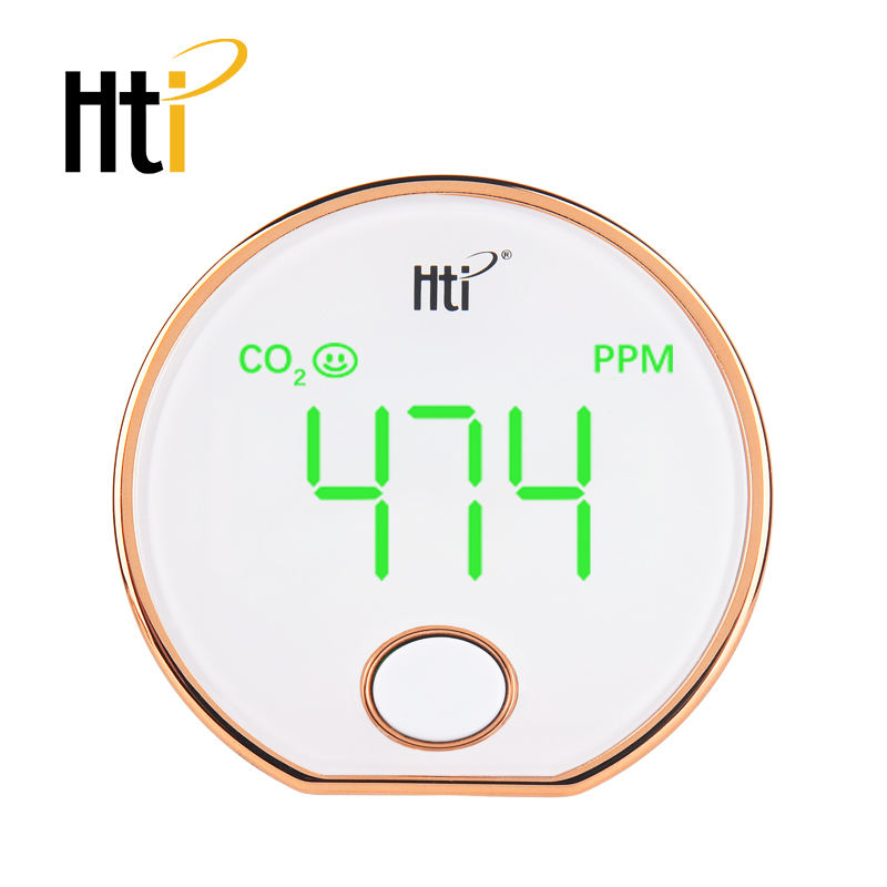 carbon dioxide CO2 Indoor Air Quality CO2 Meter Temperature and Relative Humidity White HT-401