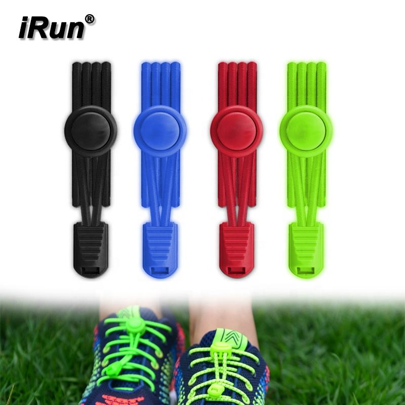 iRun 2020 New Trend Round Multi Colored No Tie Elastic Reflective Shoe Laces Triathlon Lazy Shoelaces No Tie for Sneakers