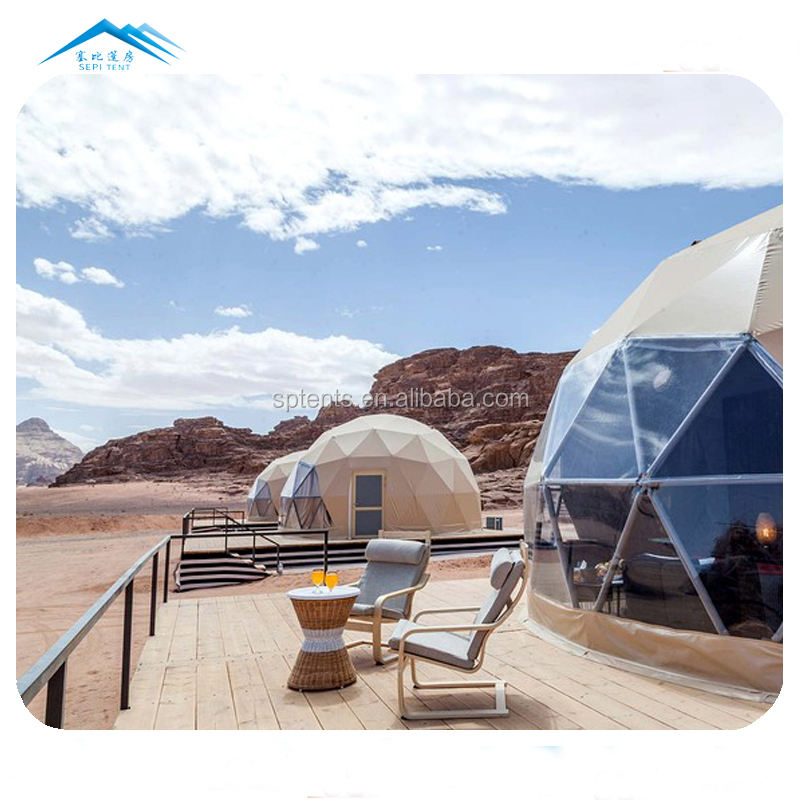 Outdoor spherical tent 2 person waterproof metal dome eco hotel tent