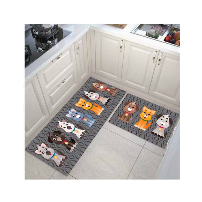 anti slip kitchen mat runner rug set for kitchen