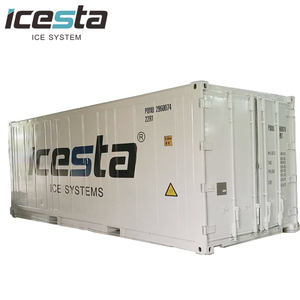 automatic 20t 50t containerized flake ice machines with storage container
