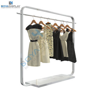 Wholesale Modern Free Stand Metal Women Clothes Store Wedding Dress Garment Display Rack