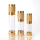 Luxury gold airless lotion pump bottle 15ml 30ml 50ml 100ml for hair oil