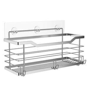Shower Organiser Caddy Basket Bathroom Shelf Stainless Steel Bath Rack