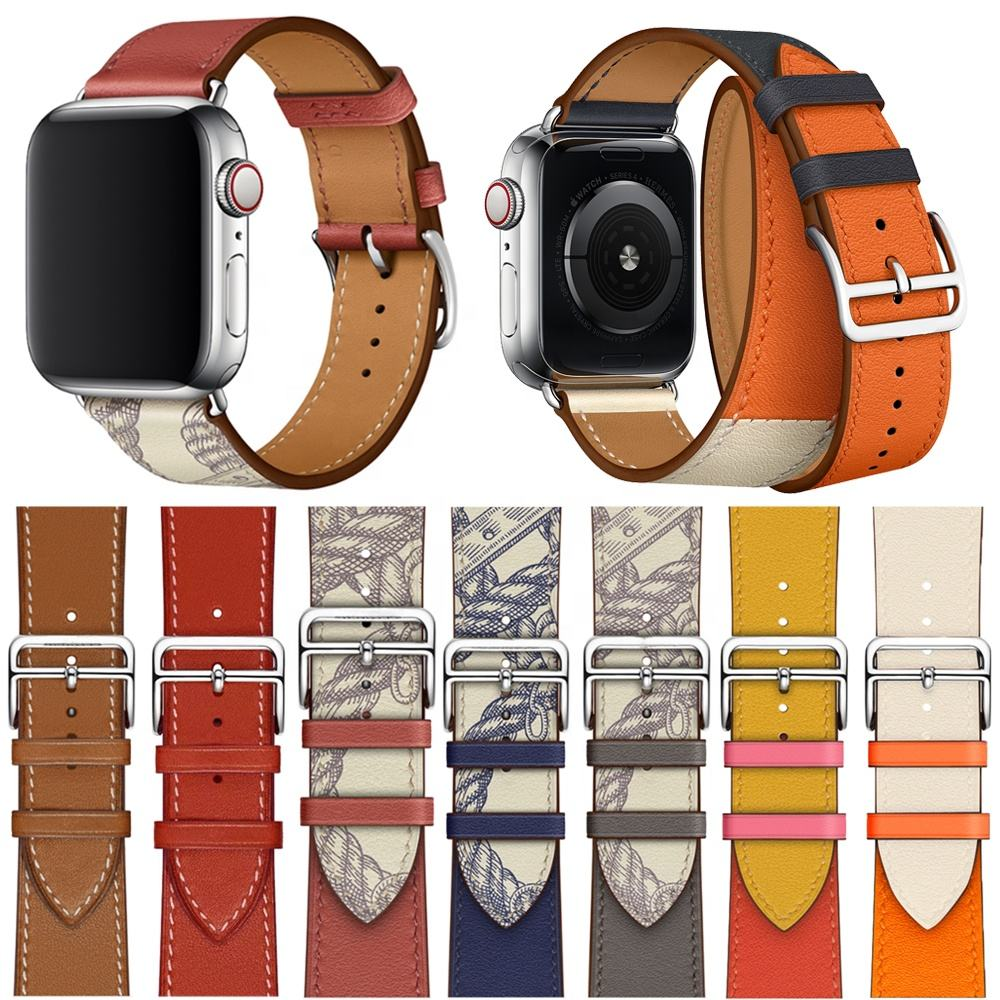 Tschick Series 6/SE/5/4/3 New Genuine Leather Loop For Apple Watch Band Single Tour 42mm 44mm Strap For Apple Watch Leather Band