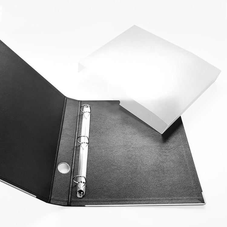Customized Black Plastic Waterproof and Scrubable Document Jacket + Folder