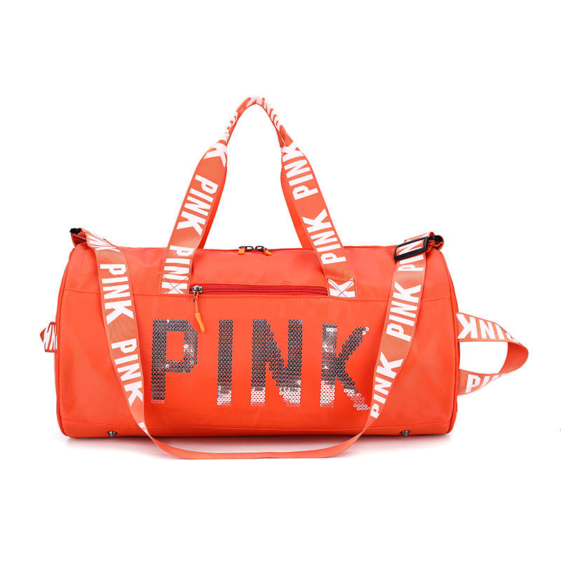 YIWU Outdoor Activities Light Weight sport travel pink duffle gym yoga bag pink