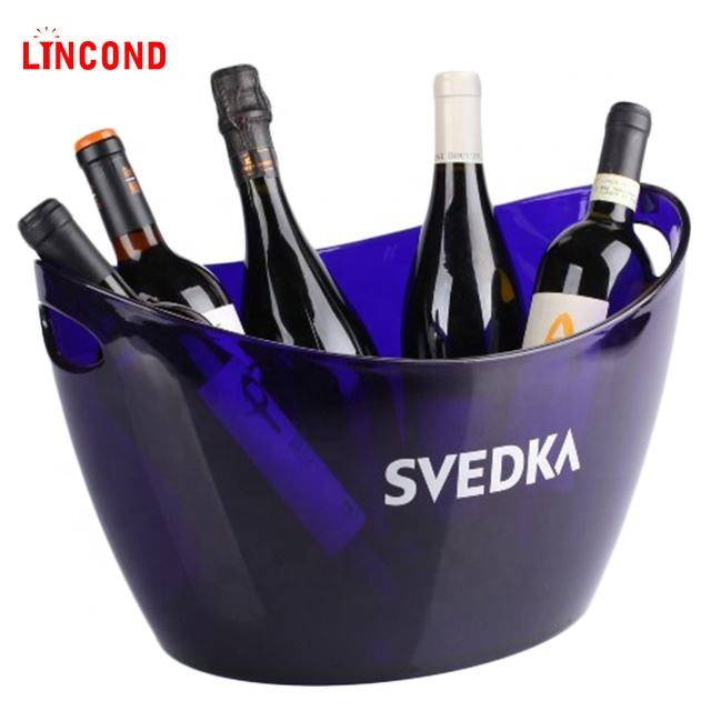 Lincond Large Capacity LED Lighting Ice Bucket Wine Cooler For Beer