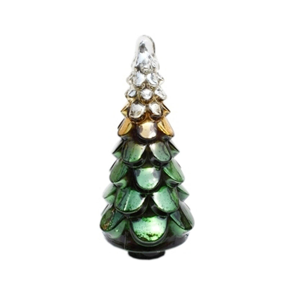 New Decorative Press Christmas Glass Tree