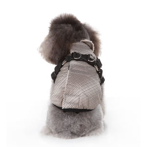 Silver version pet chest back jacket dog Christmas jacket clothes dog cloth pet jacket small dog clothes