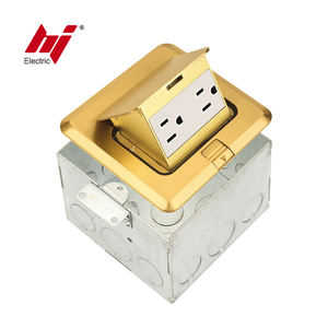 Newly Design Customized Brass Finish Square Pop Up Socket Outlet Box