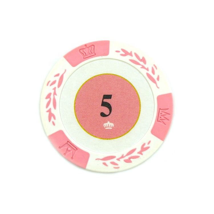 High Quality Professional Round Waterproof Denomination Poker Chips With Numbers