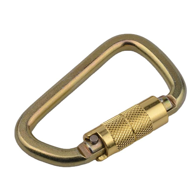 Custom 30KN Carabiner D Shape Auto Locking steel Snap Carabiner for Outdoor
