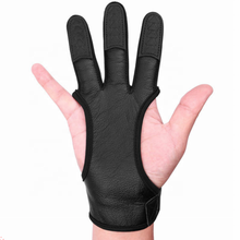 Bow Arrow Archery Three Finger Fingertips Finger Protection Thickening Soft Leather Gloves