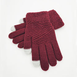 Stylish knitted gloves comfortable practical daily gloves custom warm gloves