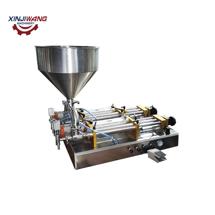 Food grade fully pneumatic beverage juice soft drink bottle liquid filling machine for small business