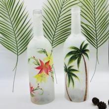 2020 hot selling hand painting led glass bottle with string light for home and party decoration
