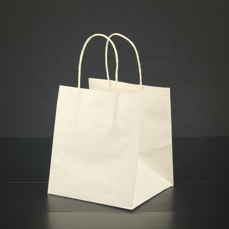 Chinese packaging manufacturers wholesale, cheap food-grade material gift bags, can be customized to take-away Kraft paper bags