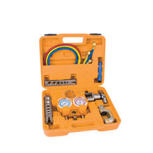 HVAC refrigeration tool kits flaring tools tube cutter deburring tool and R32 manifold gauge set