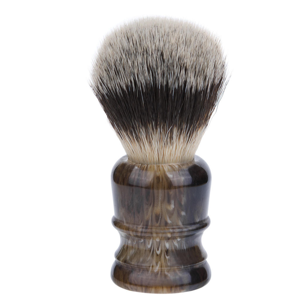 shaving brush with badger hair and resin handle for shave